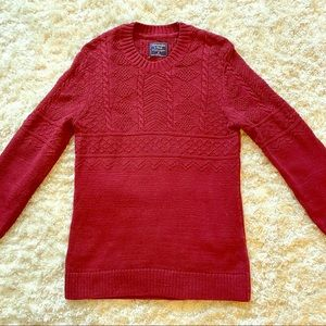 Abercrombie&Fitch burgundy sweater